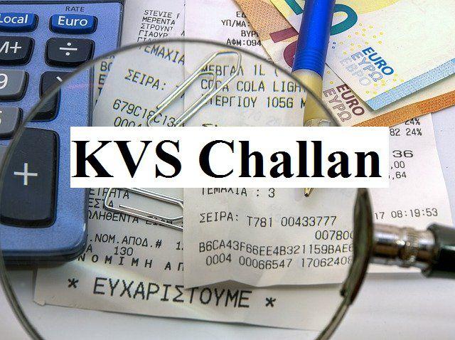 kv fees challan download KVS Challan