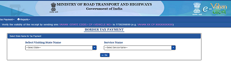 border tax payment online