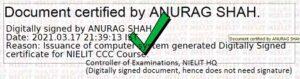 ccc certificate verification